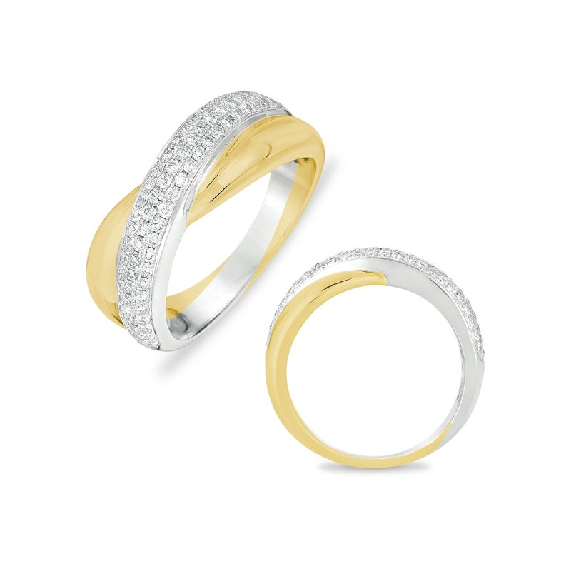 S. Kashi  & Sons White & Yellow Gold Ring