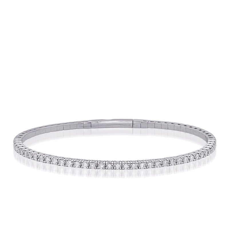 S. Kashi  & Sons White Gold Flexable Bangle Bracelet