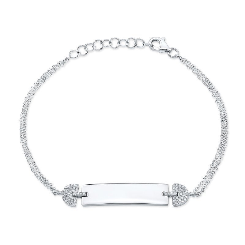 Robert Palma Designs White Gold ID Bracelet