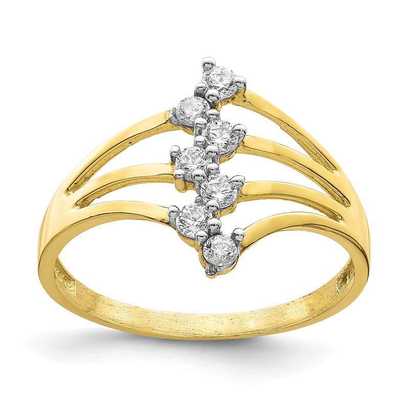 Quality Gold 10K CZ 7-Stone Ring