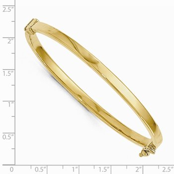 Leslie's 14K Gold Polished Hinged Bangle Bracelet