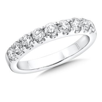 Prong set Diamond Wedding Band 14k White Gold (1/7ct. tw.) HI/SI2-SI3