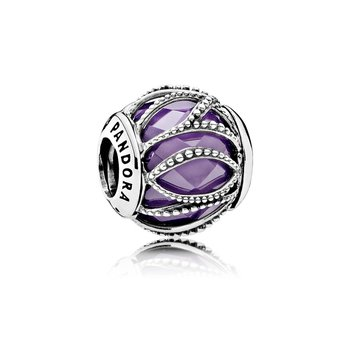 Intertwining Radiance, Purple Clear Cz