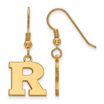 Gold-Plated Sterling Silver Rutgers University NCAA Earrings