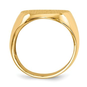 14k 20.0x16.5mm Open Back Men's Signet Ring