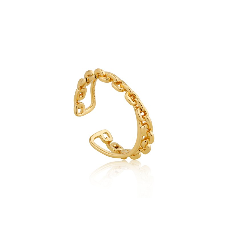 Ania Haie Chain Double Crossover Ring