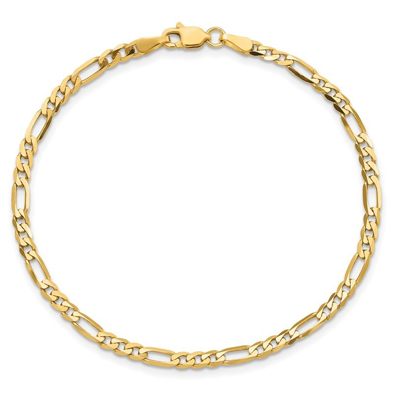 Quality Gold 14k 3mm Flat Figaro Chain
