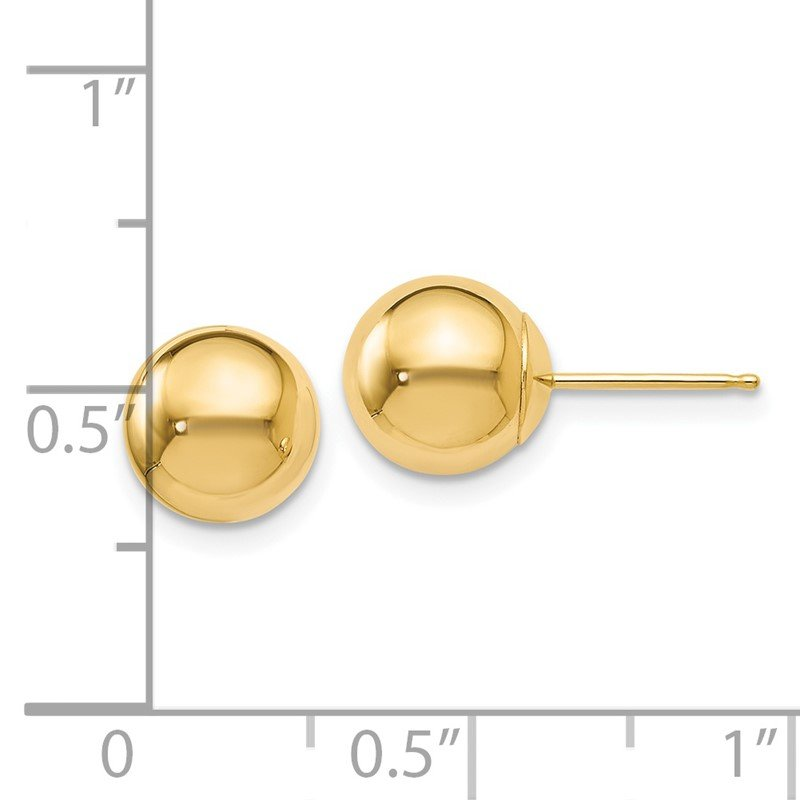 Leslie's Leslie's 14K Polished 8mm Ball Post Earrings
