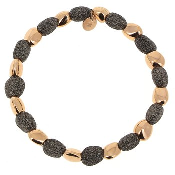 Alternating Polvere Di Sogni Stones Bracelet - Dark Brown Polvere & Rose Gold