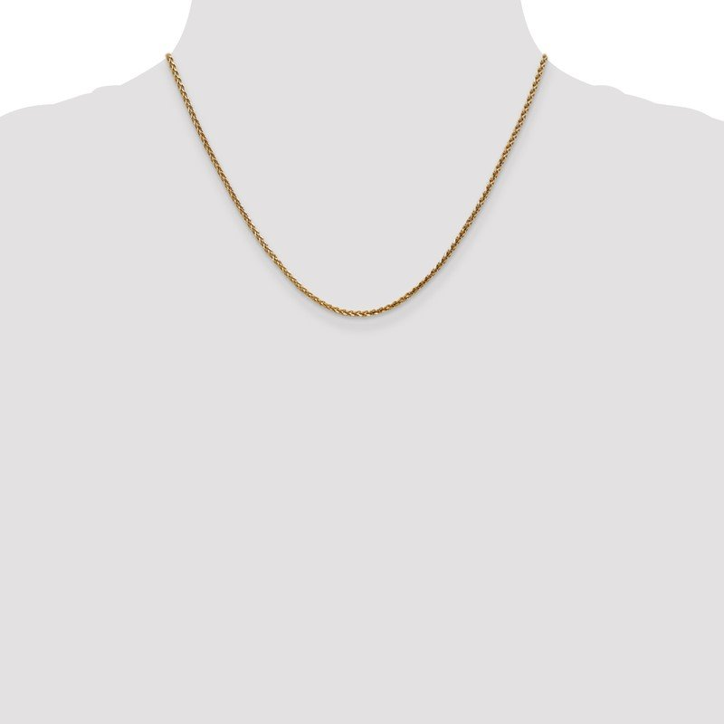 Quality Gold 14k 1.8mm D/C Spiga Chain