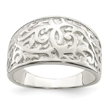 Sterling Silver Swirl Design Ring