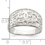 Quality Gold Sterling Silver Swirl Design Ring