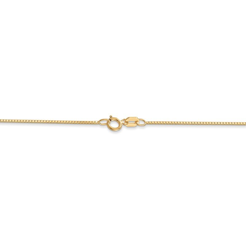 Quality Gold 14k .7mm Box with Spring Ring Clasp Chain
