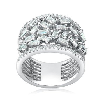 Wide Encrusted Ring
