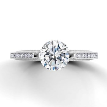 Tubetto Single Shank Engagement Ring