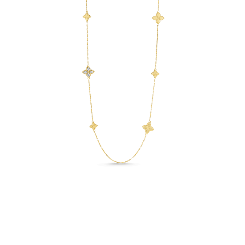 Roberto Coin 18KT GOLD STATION NECKLACE WITH DIAMONDS