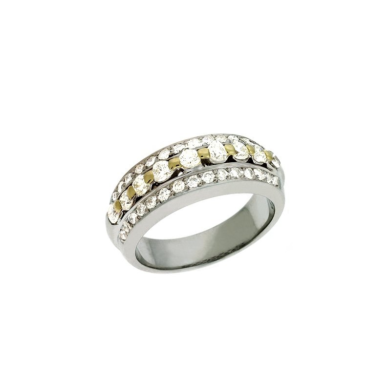 S. Kashi  & Sons Yellow & White Gold Diamond Band