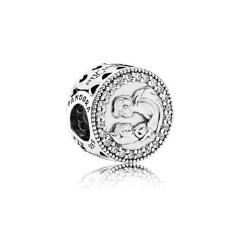 Disney, Snow White 80th Anniversary Charm, Clear CZ