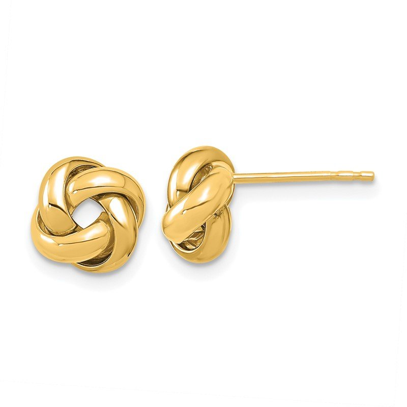 Fine Jewelry by JBD 14K Polished Love Knot Post Earrings