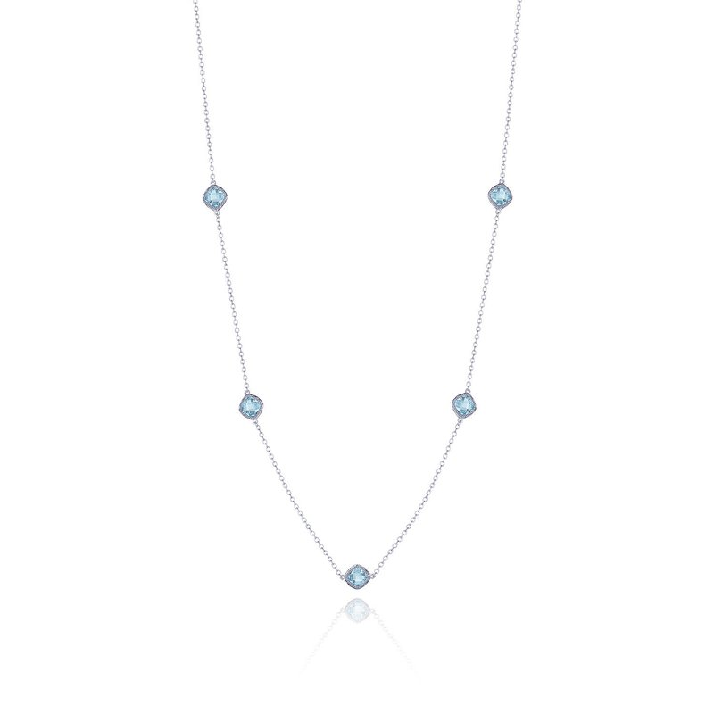 Tacori Fashion 5-station necklace with Sky Blue Topaz