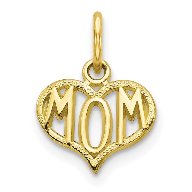 Quality Gold 10K MOM Charm