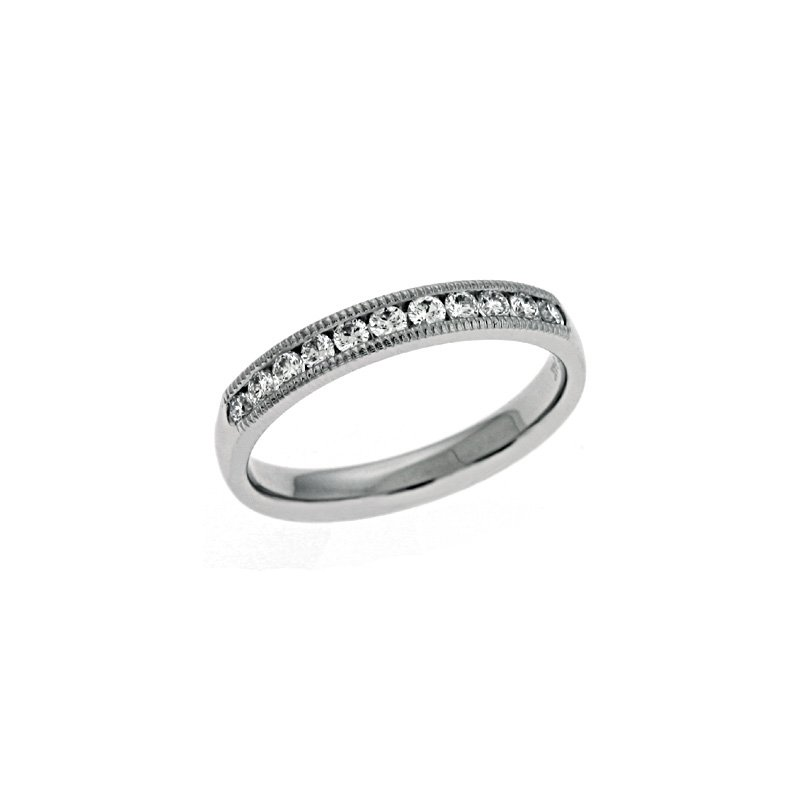 S. Kashi & Sons Bridal Millgrain DIamond Band