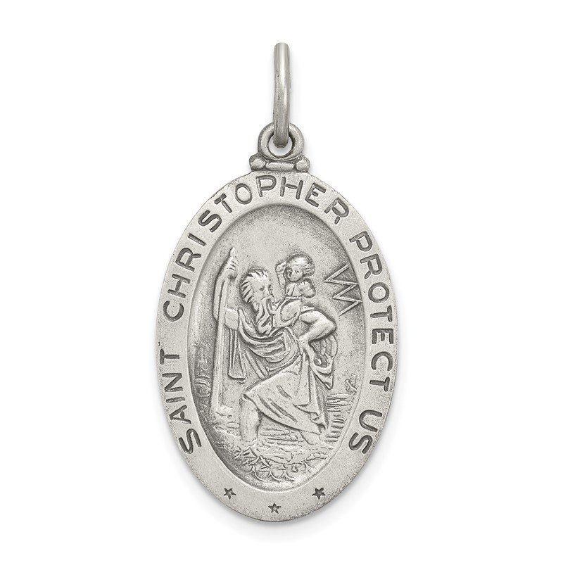 Quality Gold Sterling Silver St.Christopher Soccer Medal