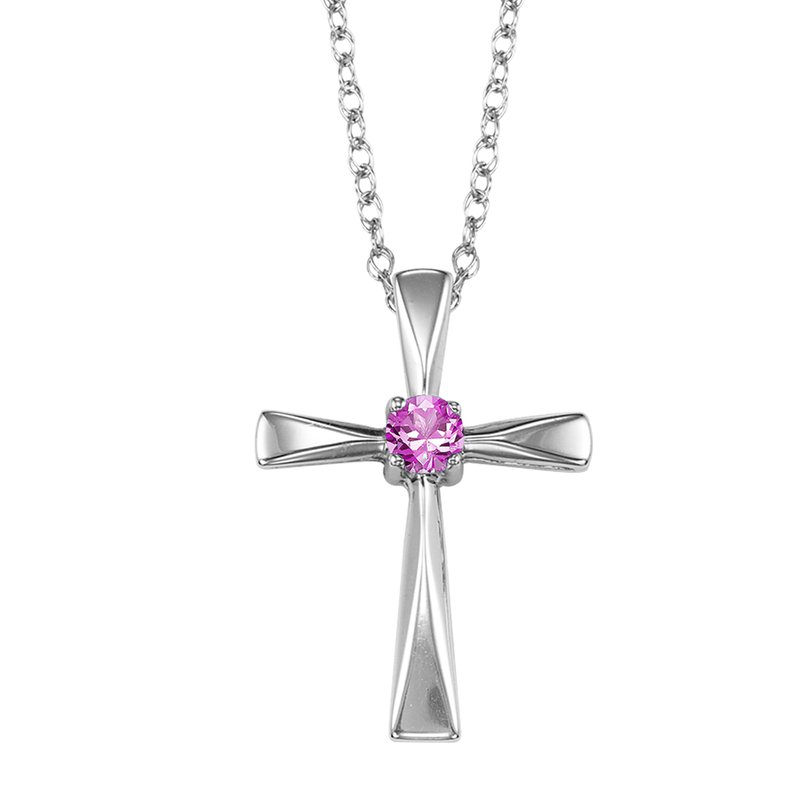 Mixables Silver Opal Cross Pendant