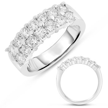 White Gold Diamond Band Double Row