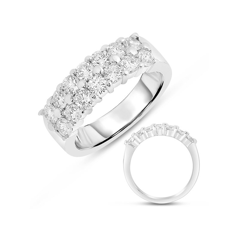 S. Kashi & Sons Bridal White Gold Diamond Band Double Row