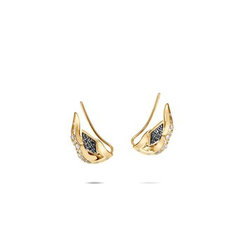 Lahar Stud Earring in 18K Gold with Diamonds