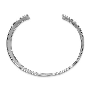 14k WG 37mm Hammered Polished Cuff Bangle