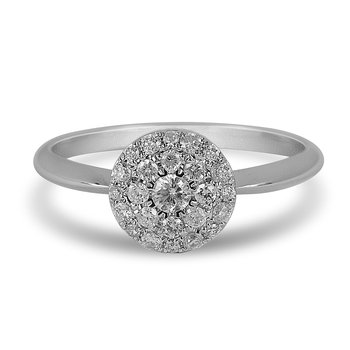 14K WG Diamond Lumis Collection Cluster Ring