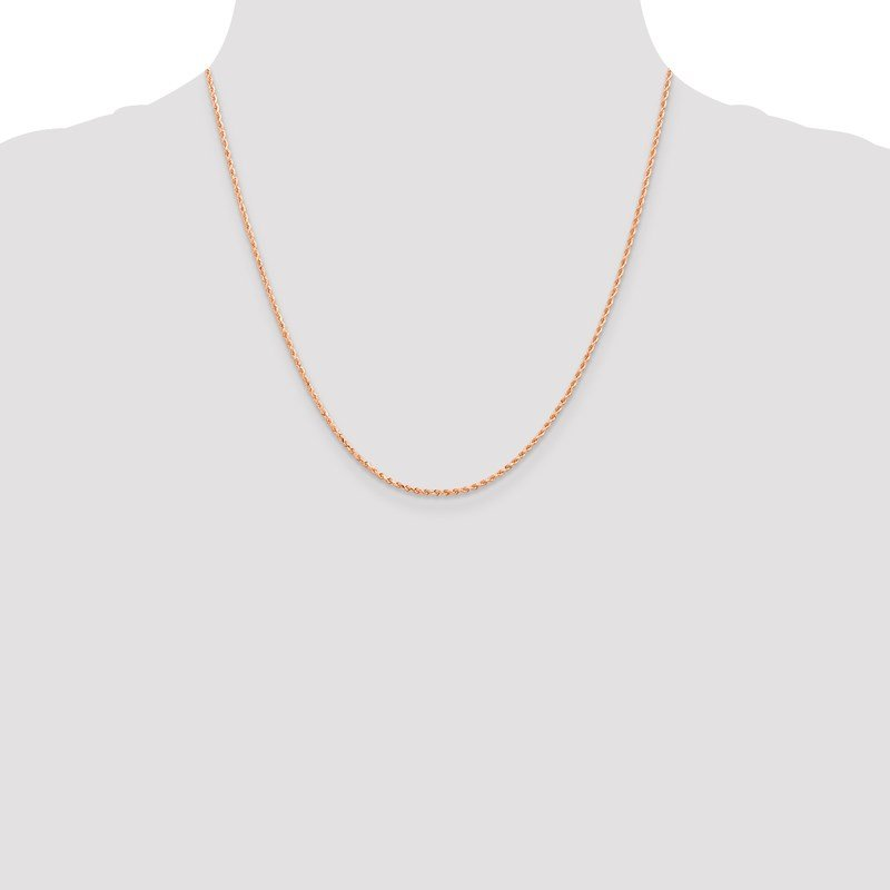 Leslie's Leslie's 14K Rose Gold 1.5mm Diamond-Cut Rope Chain