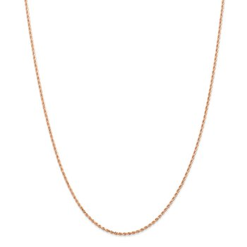 Leslie's 14k Rose Gold 1.5mm Diamond Cut Rope Chain