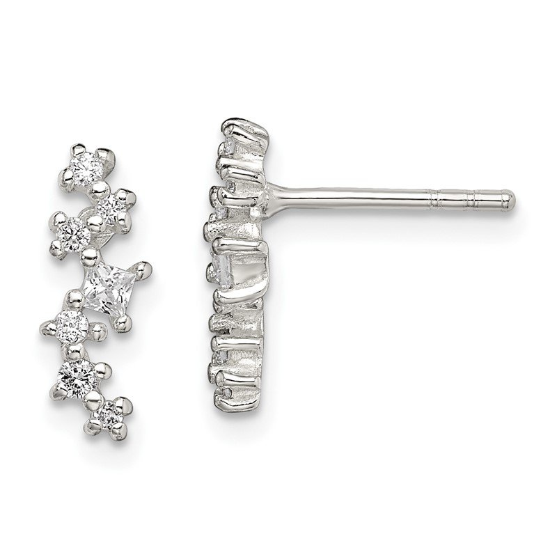 J.F. Kruse Signature Collection Sterling Silver CZ Post Earrings