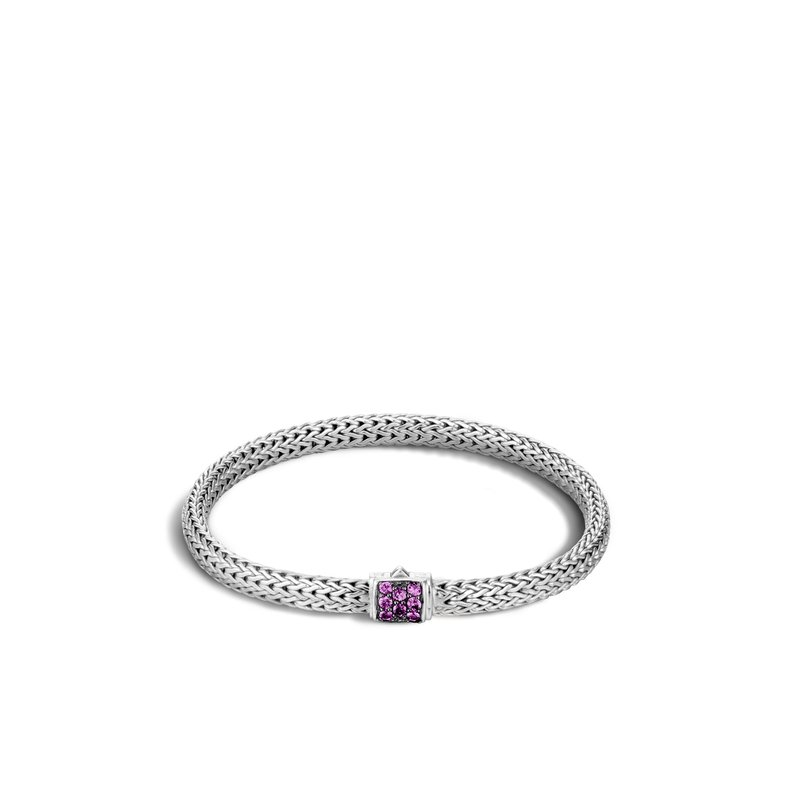JOHN HARDY Classic Chain 5MM Bracelet in Silver with Gemstone