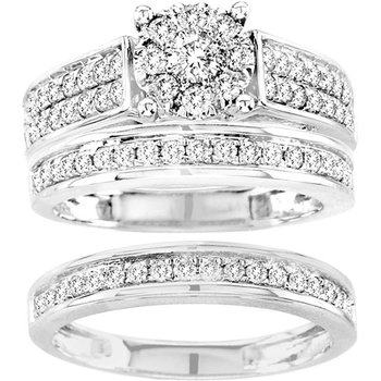 14K 1.35Ct Diamond Trio Set