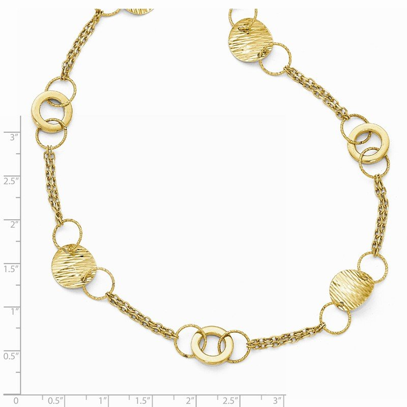 Leslie's Leslie's 14k Polished Textured Fancy Link Necklace