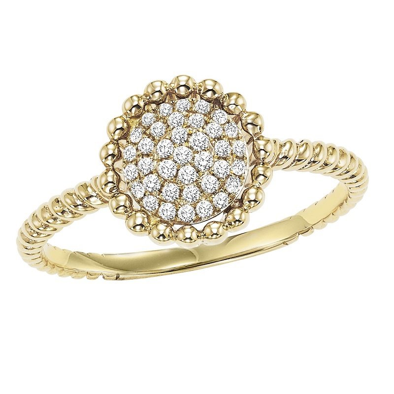 Mixables 10K Diamond Ring 1/7 ctw