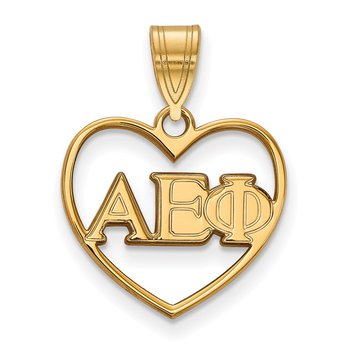 Gold-Plated Sterling Silver Alpha Epsilon Phi Greek Life Pendant