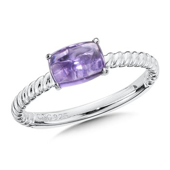 Sterling Silver Amethyst Stacking Ring