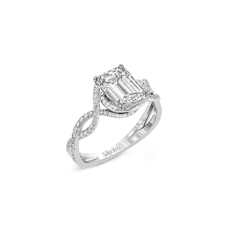 Simon G LP2304-EM ENGAGEMENT RING