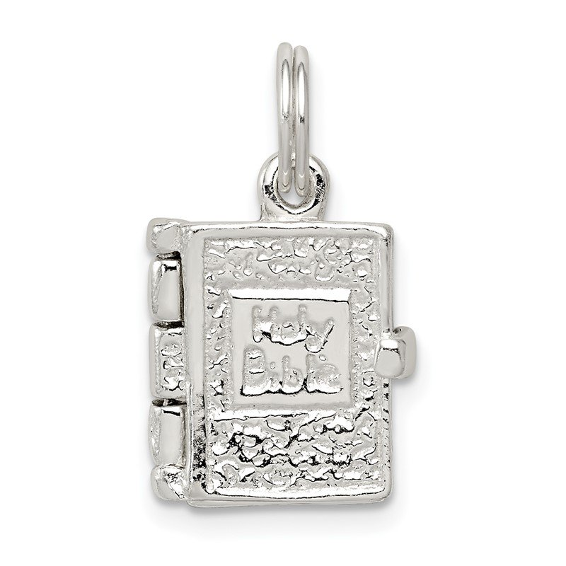 Quality Gold Sterling Silver Holy Bible Charm