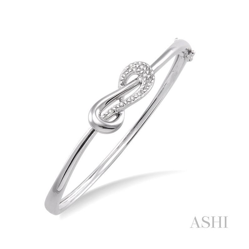Gemstone Collection silver infinity diamond bangle