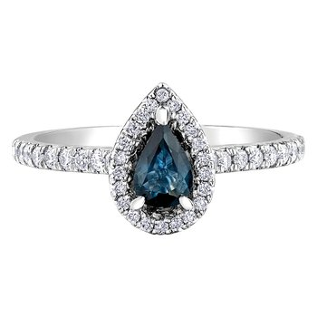 Sapphire Ladies Engagement Ring