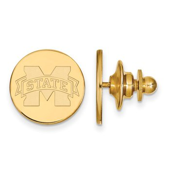 Gold Mississippi State University NCAA Lapel Pin