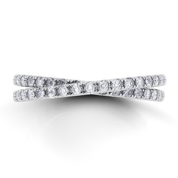 Eleganza Braided Diamond Band