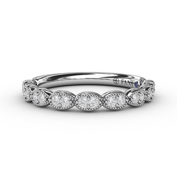 Scalloped Diamond Band with Milgrain