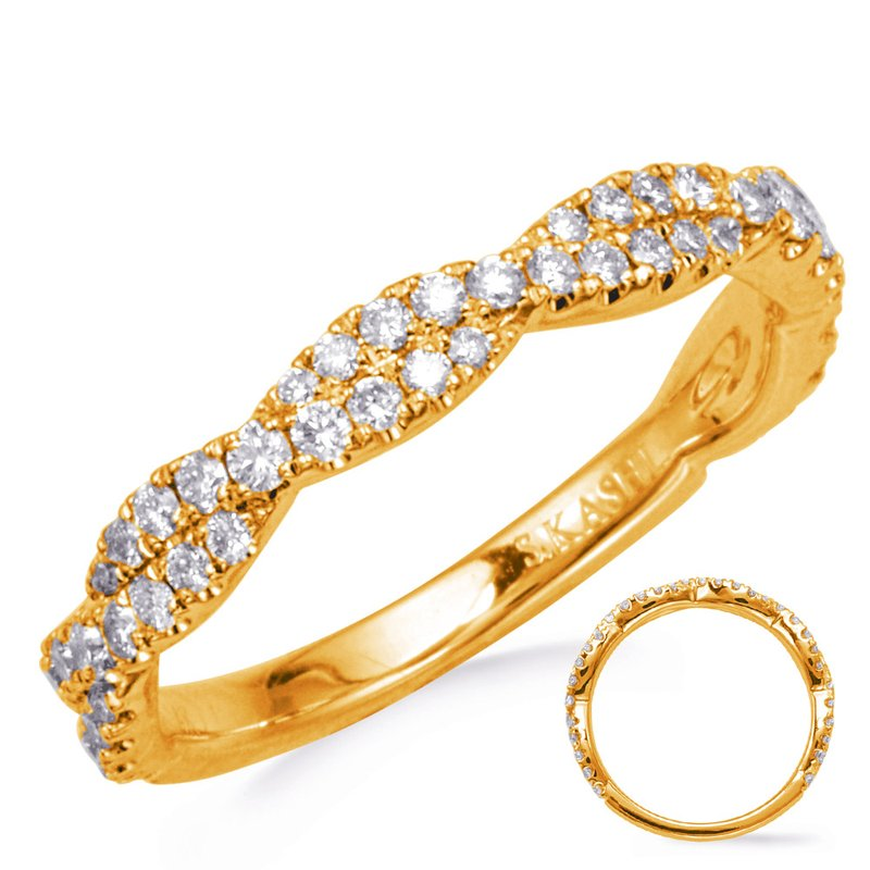 MAZZARESE Bridal Yellow Gold Diamond Band